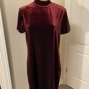 New York & Company Velour Dress Sz L
